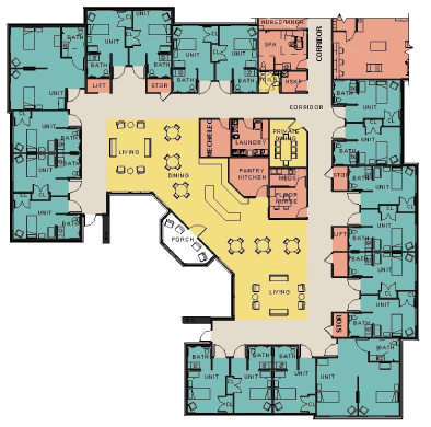 Private Resident Rooms Floorplan